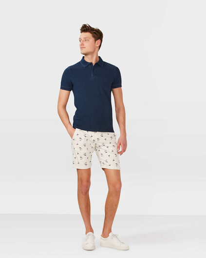 HEREN SLIM FIT PRINT CHINO SHORT Gebroken wit