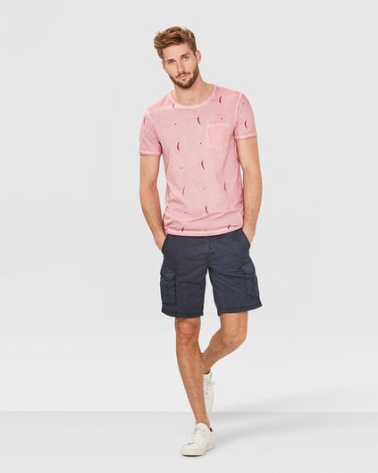 HEREN RELAXED CARGO SHORT Marineblauw