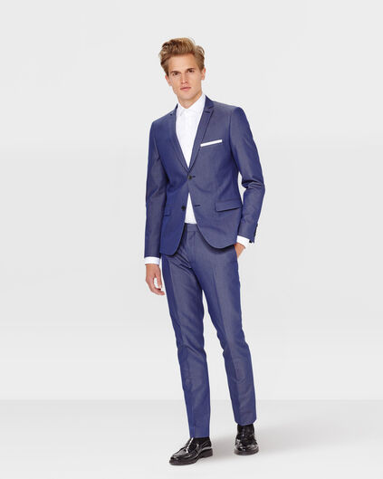 HEREN SLIM FIT BLAZER RILLO Donkerblauw
