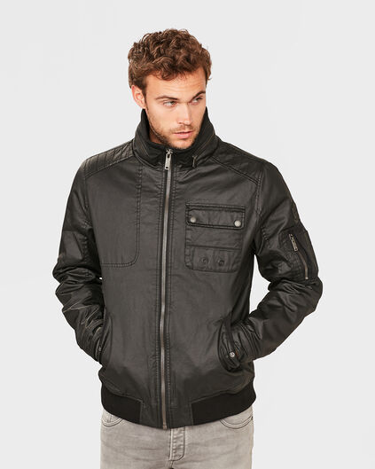 HEREN BIKER JACKET Zwart