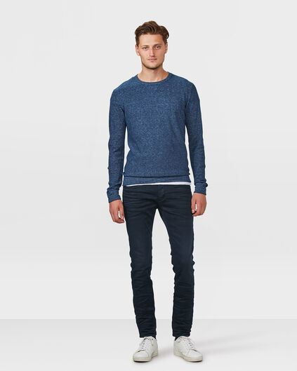 HEREN SKINNY TAPERED SUPER STRETCH BROEK Marineblauw