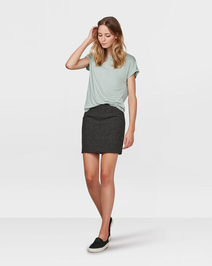 DAMES CONTRAST FABRIC TOP Mintgroen