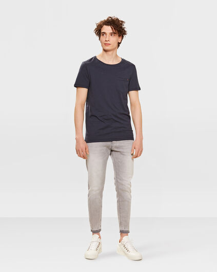 HEREN SKINNY CROPPED TAPERED SUPER STRETCH JEANS Lichtgrijs