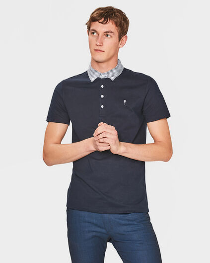 HEREN BUTTON-DOWN POLO SHIRT Donkerblauw