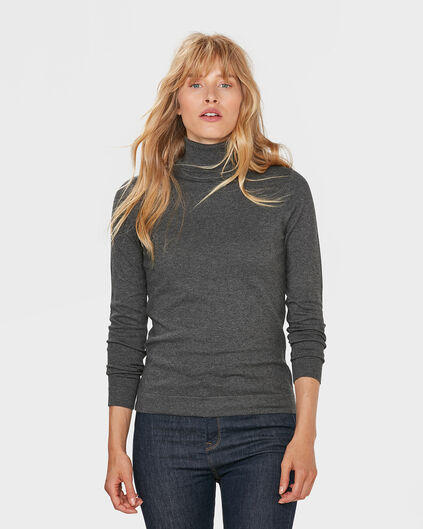 DAMES ROLL NECK TRUI Grijs