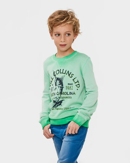 JONGENS PRINTED SWEATER Groen