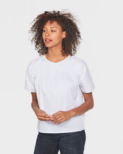 DAMES SMOCK EFFECT TOP Wit