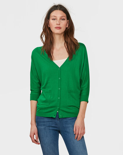 DAMES V-NECK KNIT VEST Groen
