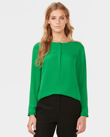 DAMES LOOSE BLOUSE Groen