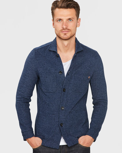 HEREN SLIM FIT BLUE RIDGE DENIM BLAZER Marineblauw