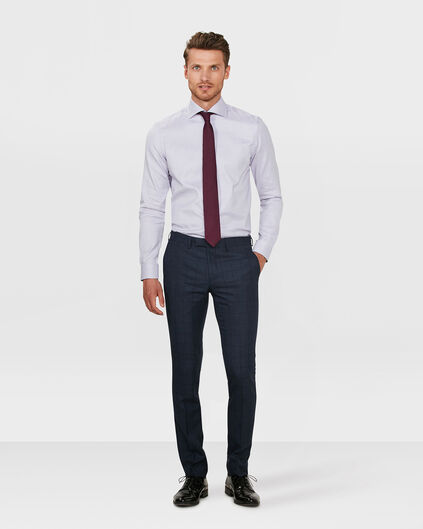 HEREN SLIM FIT CHECKED PANTALON BLACKBURN Blauw