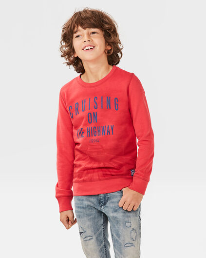 JONGENS PRINTED SWEATER Rood