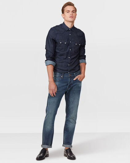HEREN RELAXED TAPERED JEANS Donkerblauw