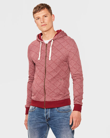 HEREN HOODED BOMBER VEST Rood