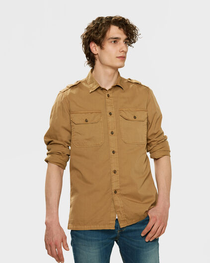 HEREN RELAXED FIT CARGO OVERSHIRT Bruin