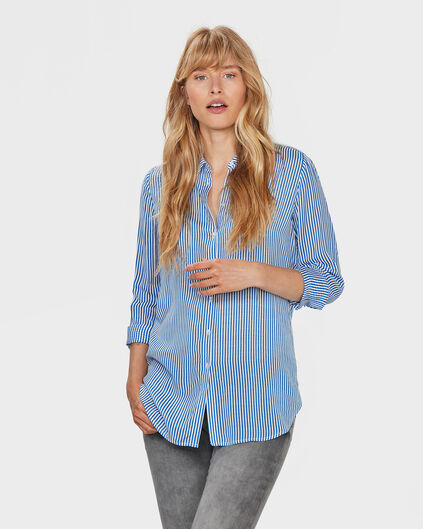 DAMES STRIPE PRINT BLOUSE All-over print