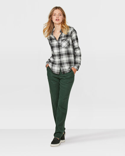 DAMES RELAXED FIT TENCEL CHINO Mosgroen