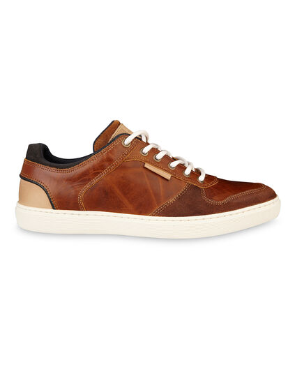 HEREN REAL LEATHER SNEAKERS Cognac