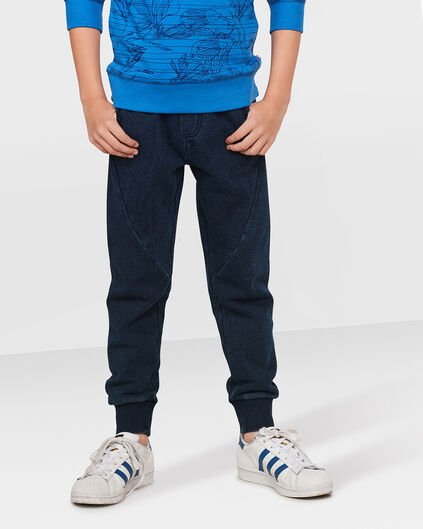 JONGENS GARMENT DYED SWEATPANTS Blauw