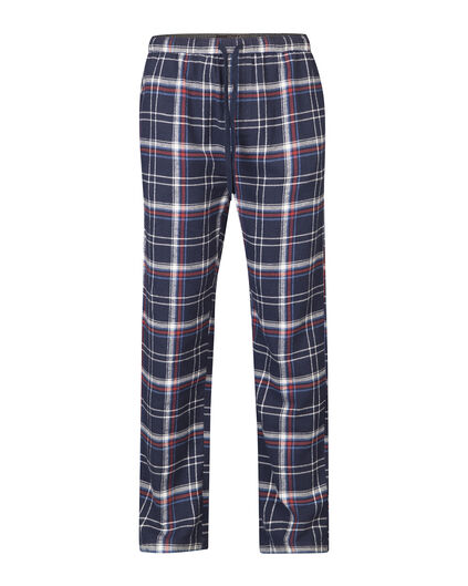 HEREN FLANEL CHECKED PYJAMABROEK Donkerblauw