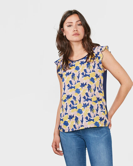 DAMES FLOWER PRINT TOP All-over print