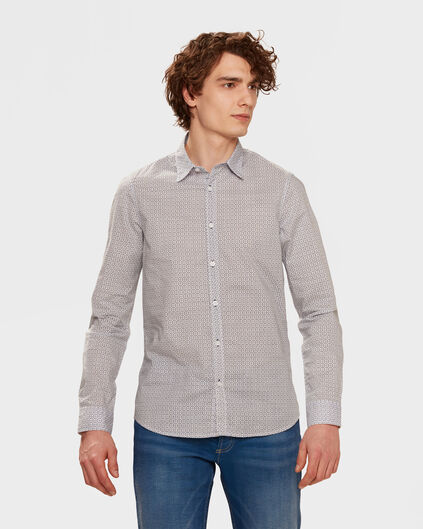 HEREN SLIM FIT PRINT OVERHEMD All-over print