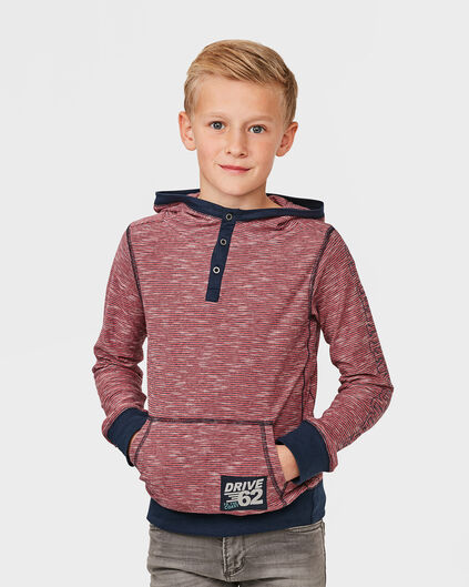 JONGENS HOODED SHIRT Donkerblauw