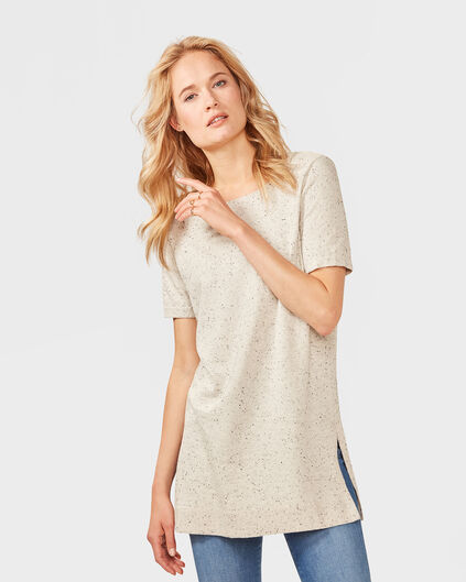 DAMES NEPPY STRUCTURE R-NECK TOP Grijs
