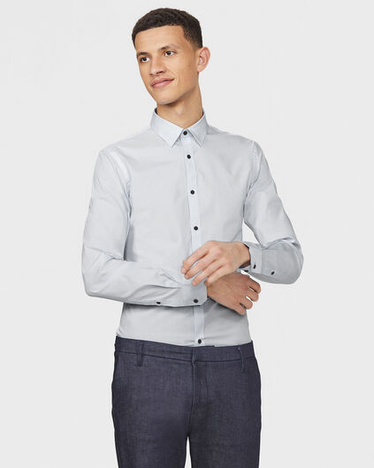HEREN SLIM FIT STRETCH OVERHEMD Grijs