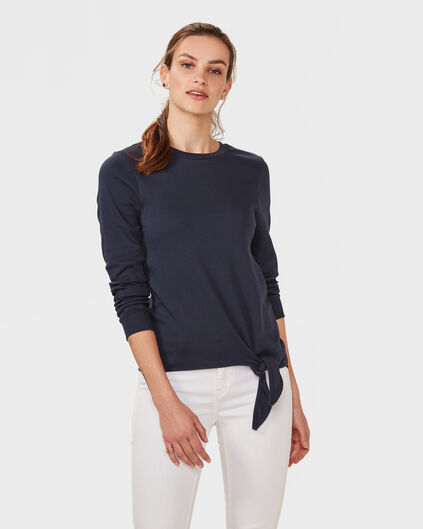DAMES TIE SWEATER Donkerblauw