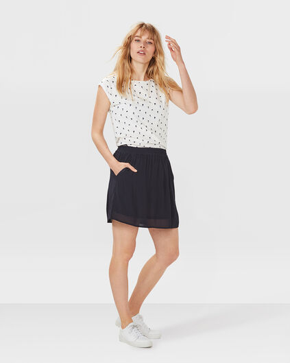 DAMES PLEATED ROK Donkerblauw