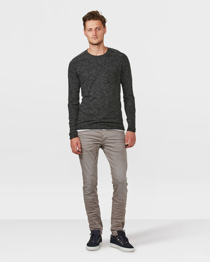 HEREN SKINNY TAPERED SUPER STRETCH BROEK Lichtgrijs
