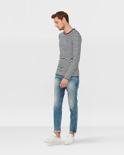 HEREN SKINNY TAPERED STRETCH JEANS Lichtblauw