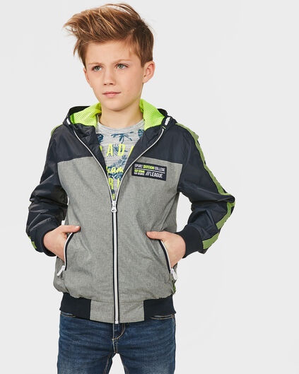 JONGENS ATHLETIC JACKET Donkerblauw