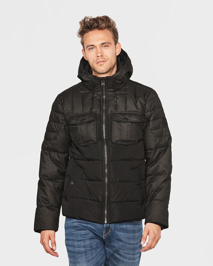 HEREN PADDED MELANGE JACKET Grijs