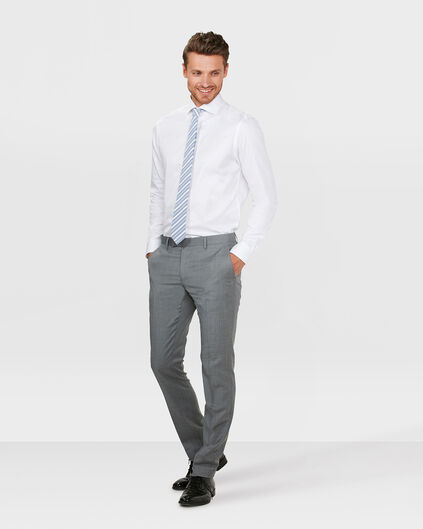 HEREN SLIM FIT PANTALON DERBY Lichtgrijs
