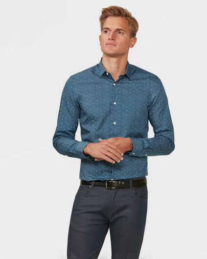 HEREN SLIM FIT OVERHEMD Grijsblauw
