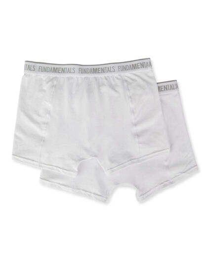 HEREN BOXERSHORTS, 2-PACK Wit
