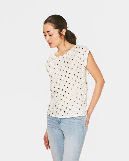 DAMES PRINTED T-SHIRT Gebroken wit