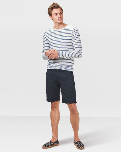HEREN REGULAR FIT CHINO SHORT Donkerblauw