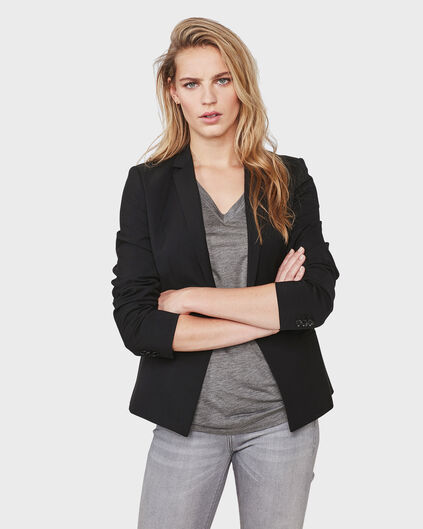 DAMES SLIM FIT BLAZER Zwart