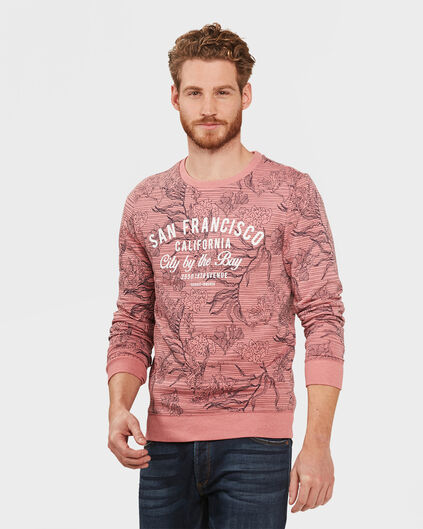 HEREN PRINTED SWEATER Oudroze