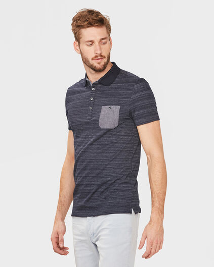 HEREN ONE-POCKET POLOSHIRT Marineblauw