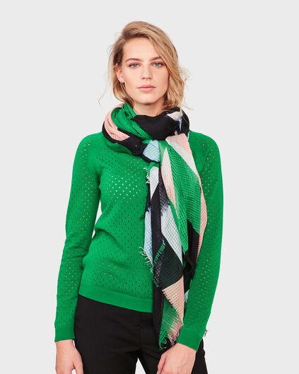 DAMES COLOR BLOCK SJAAL Groen