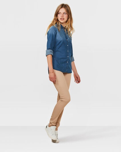 DAMES SLIM FIT BROEK Beige