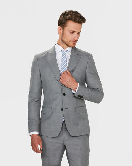 HEREN SLIM FIT BLAZER DERBY Lichtgrijs