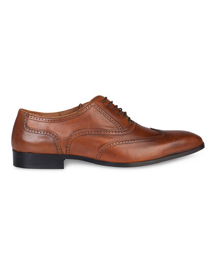 HEREN LEATHER BROQUE VETERSCHOENEN Cognac