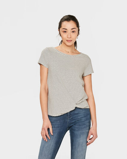 DAMES DRAPED DETAIL T-SHIRT Gebroken wit