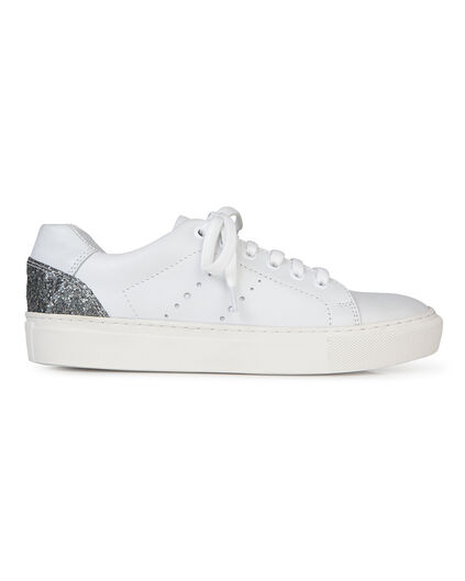 DAMES GLITTER SNEAKERS Wit