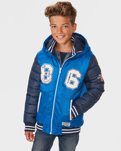 JONGENS BAD BOYS HOODED BASEBALL JACKET Donkerblauw